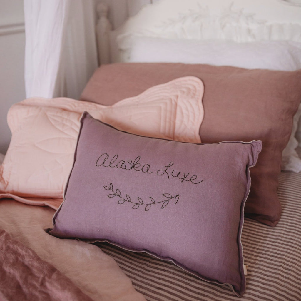 Personalised cushion  -AMETHYST