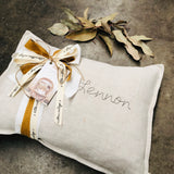 Custom Hand Stitched Cushion -OATMEAL