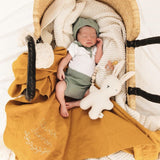 Custom Heirloom Baby Wrap - MUSTARD