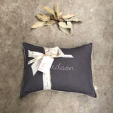 Custom hand stitched cushion - BLACK