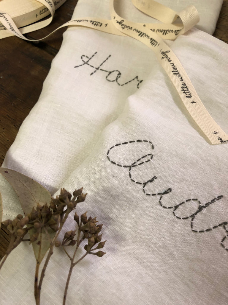 Custom Hand Stitched Cushion  -BUTTERMILK