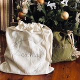 Personalised Linen Santa Sack