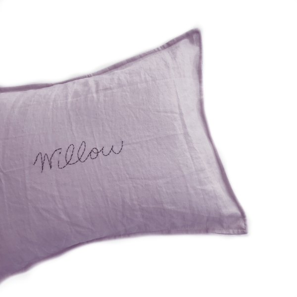 Custom Hand Stitched cushion  -AMETHYST