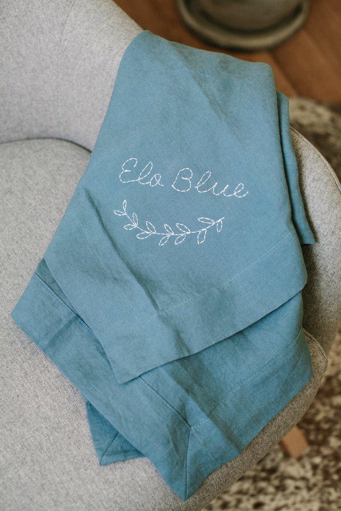 Custom Heirloom Baby Wrap - FRENCH BLUE