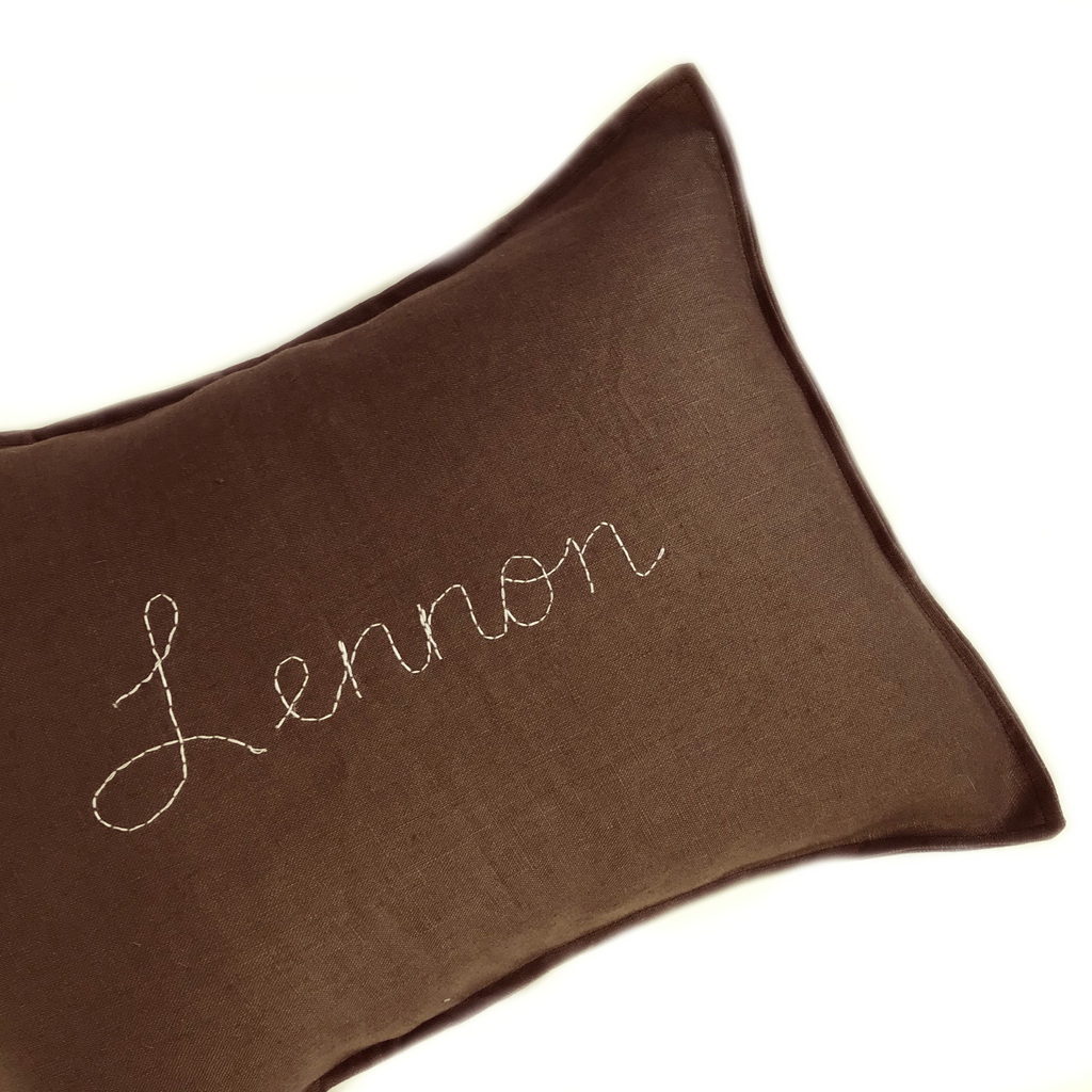 Custom Hand Stitched cushion -COCOA