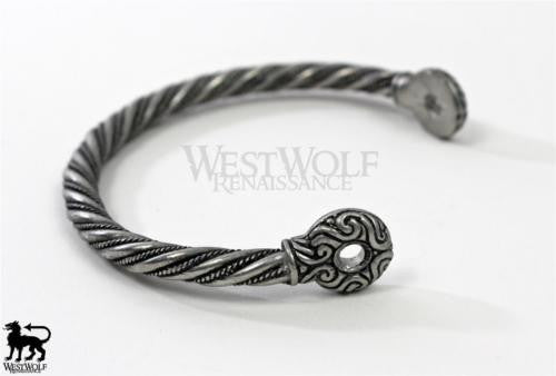 Twisted Silver Celtic Gallia Bracelet - Silver Version