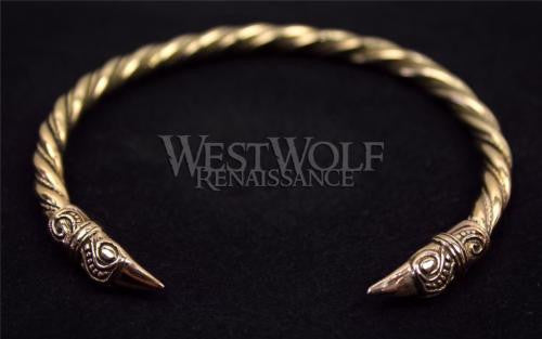 Viking Raven Bracelet - Gold Version