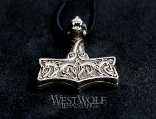 Silver Viking Protection Hammer Pendant