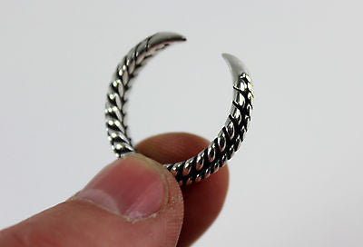 Silver Braided Viking Claw Ring - US Size 10