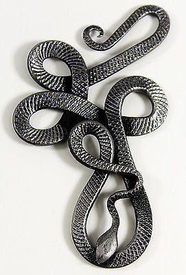 Hand-Forged Snake Pendant - Celtic / Viking Design