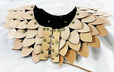 Leather Dragon Scale Armor Mantle - Shoulder Chest Guard/Gorget/Pauldron/LARP
