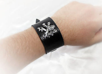Leather Medieval Lion Cuff/Bracelet