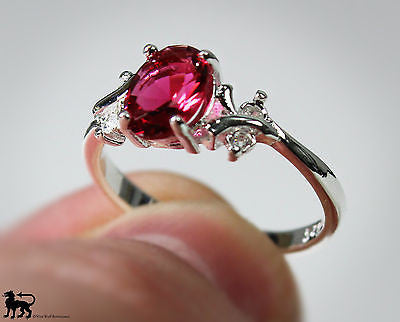 Silver & Ruby Royal Princess Ring - US Size 7
