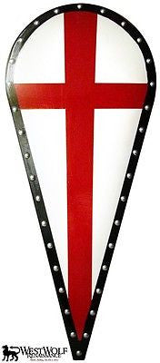 Kite Shield with Red Cros of the Crusades