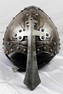 Viking Helmet w/Nasal Cross - Hand-Forged