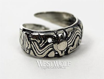 Silver Viking Ring - Borre Art