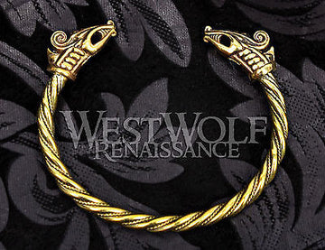 Viking Dragon Bracelet - Gold Version