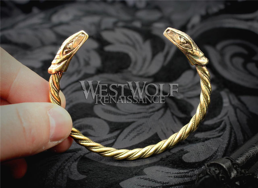 Viking Snake Bracelet - Gold Version
