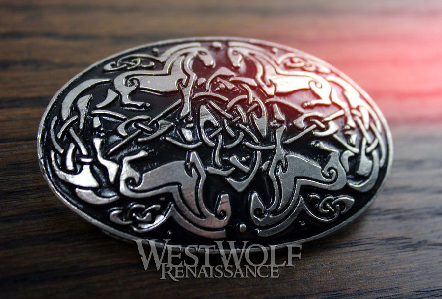 Large Oval Celtic Horses