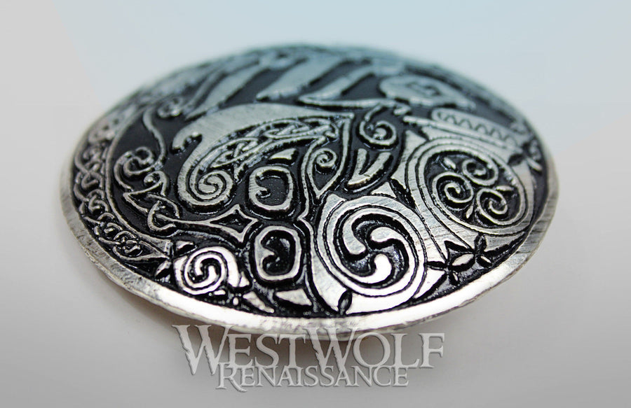 Celtic Orca / Killer Whale Brooch or Cloak Pin