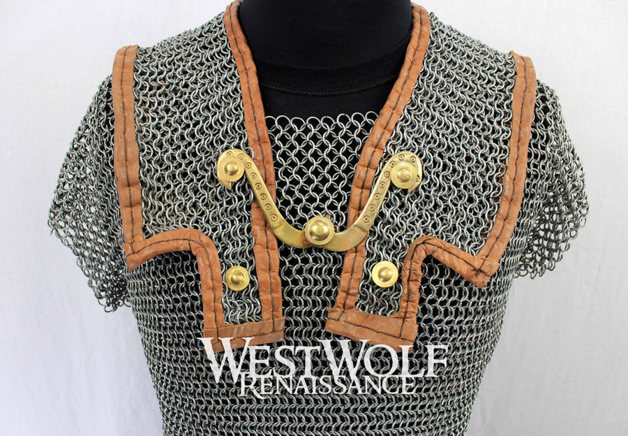 Steel Roman Lorica Hamata Layered Chainmail Armor - Large