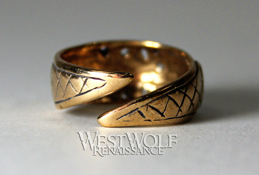 Bronze Viking Ring - Borre Art Style - US Sizes 8-11