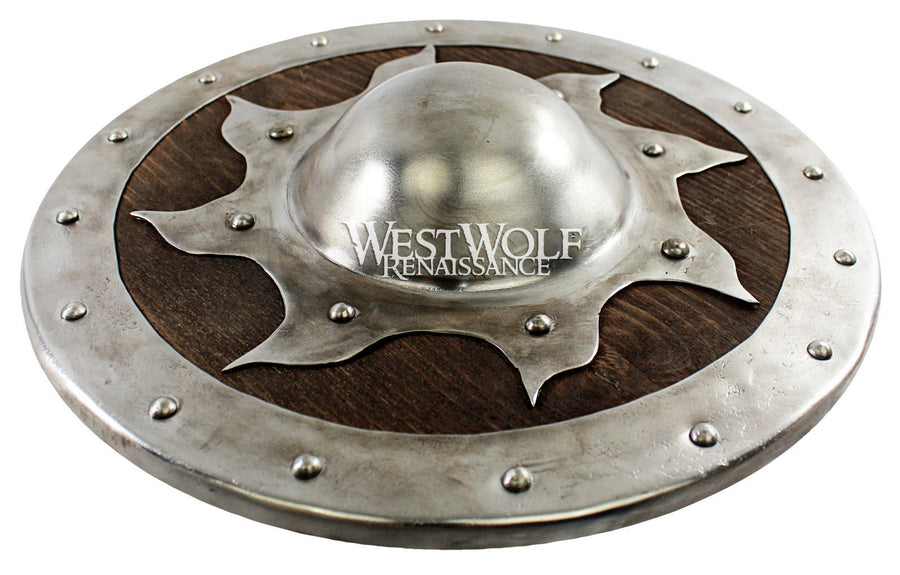 Hand-Forged Steel Sun Buckler Shield