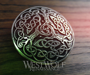 Celtic Knotted Tree of Life Brooch or Cloak Pin