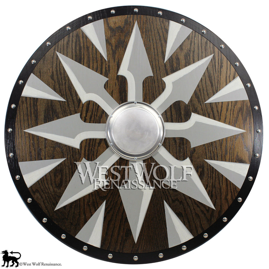 Solid Oak Viking Chaos Spear Shield