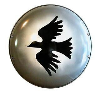 Greek Corinthian Black Dove Shield - Made of Solid 18g Steel