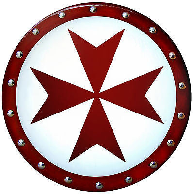 Round Templar Cross Shield