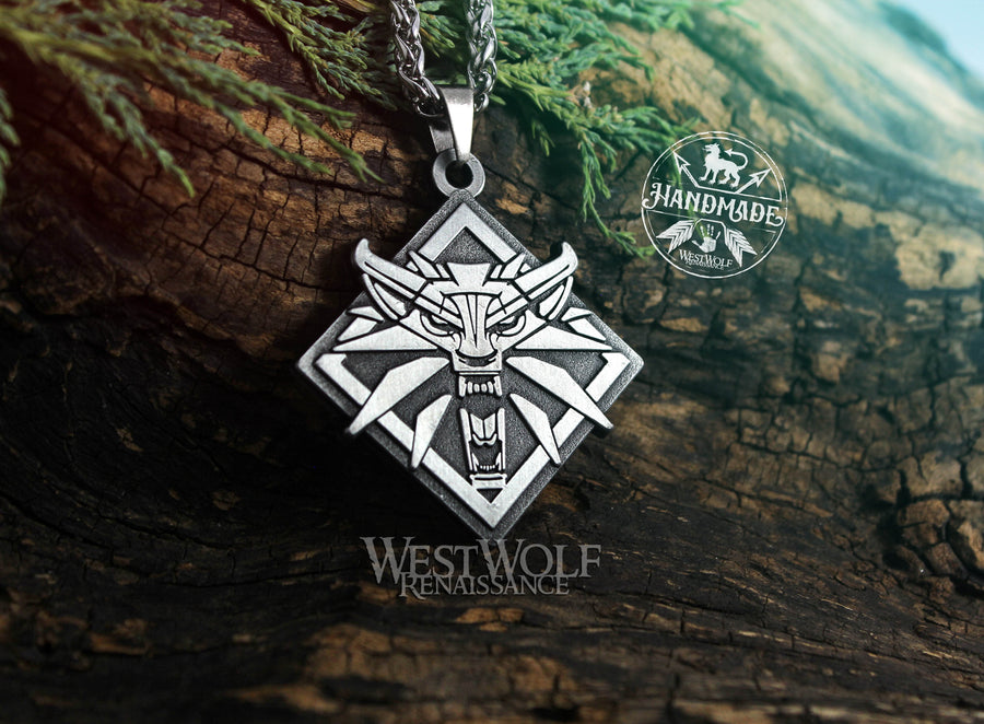 Witcher Wolf Symbol Pendant