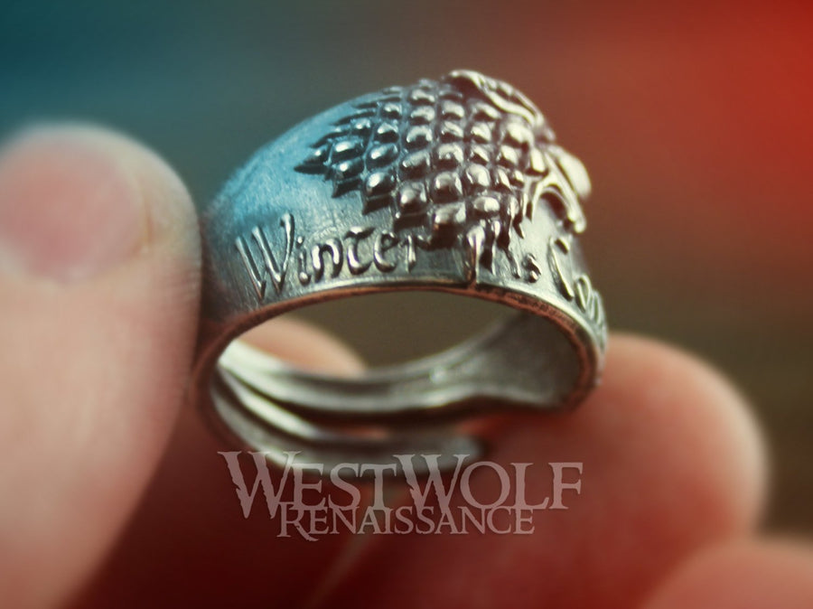 Game of Thrones Direwolf Ring of House Stark - 925 Sterling Silver