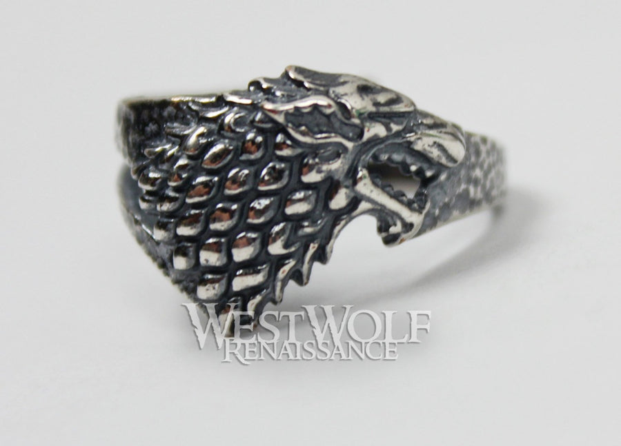 Game of Thrones Direwolf Ring of House Stark - .925 Sterling Silver