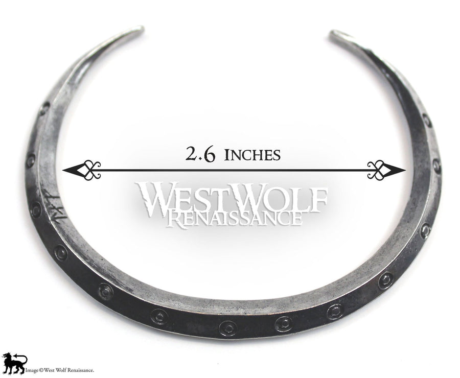 Viking Bangle Bracelet - Studded Shield Rim Style - Also Known as a Money Ring