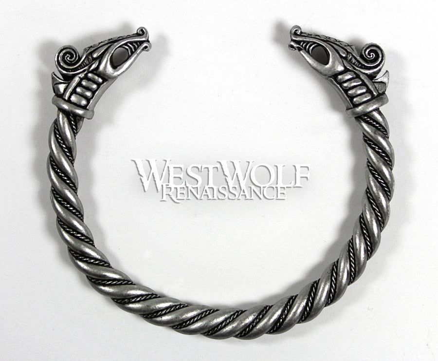 Silver Viking Dragon Bracelet