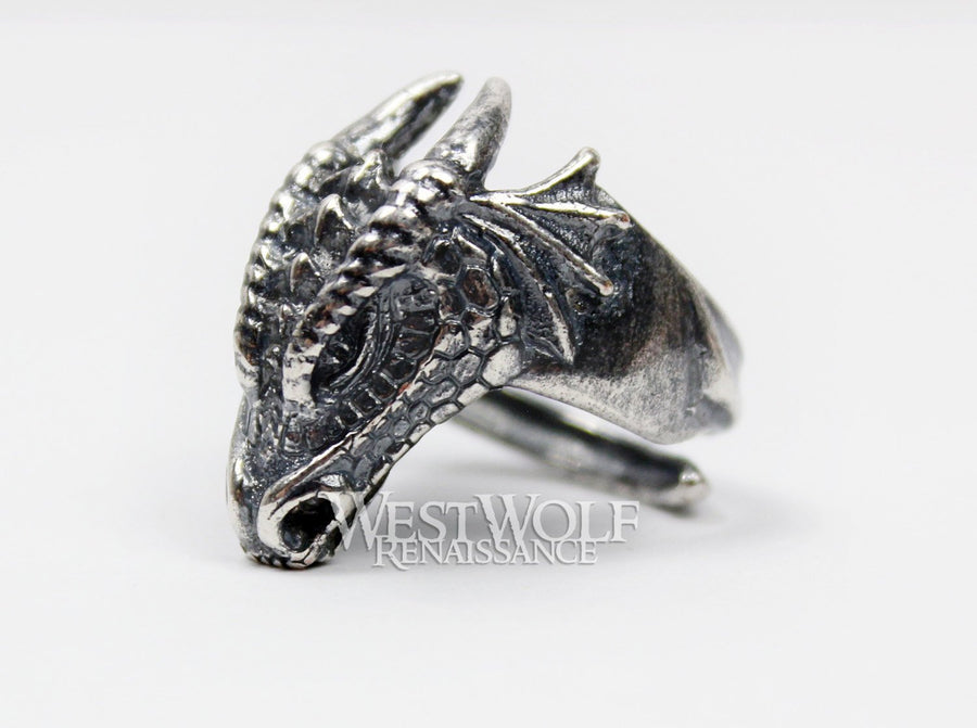 Dragon Head Ring - US Sizes 7/8/9/10/11/12 - 925 Sterling Silver