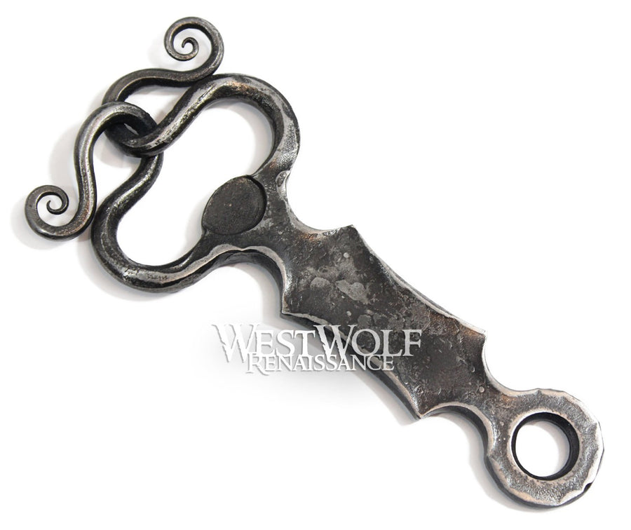 Hand-Forged Medieval Bottle Opener - Hammered Iron / Steel - Made with Fire & Anvil