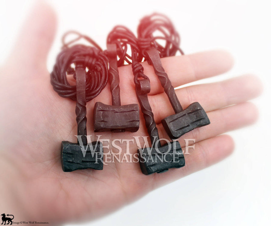 Hand-Forged Iron Thor's Hammer Pendant