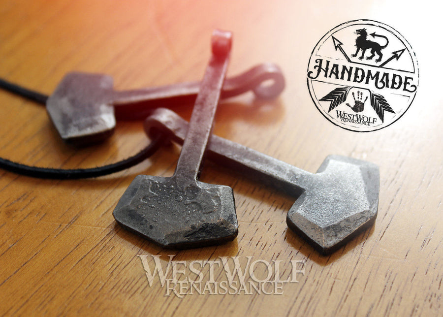 Simple Thor's Hammer Pendant - Made of Hand-Forged Iron