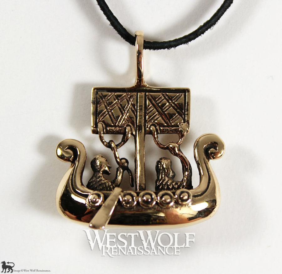 Viking Sailing Ship Pendant