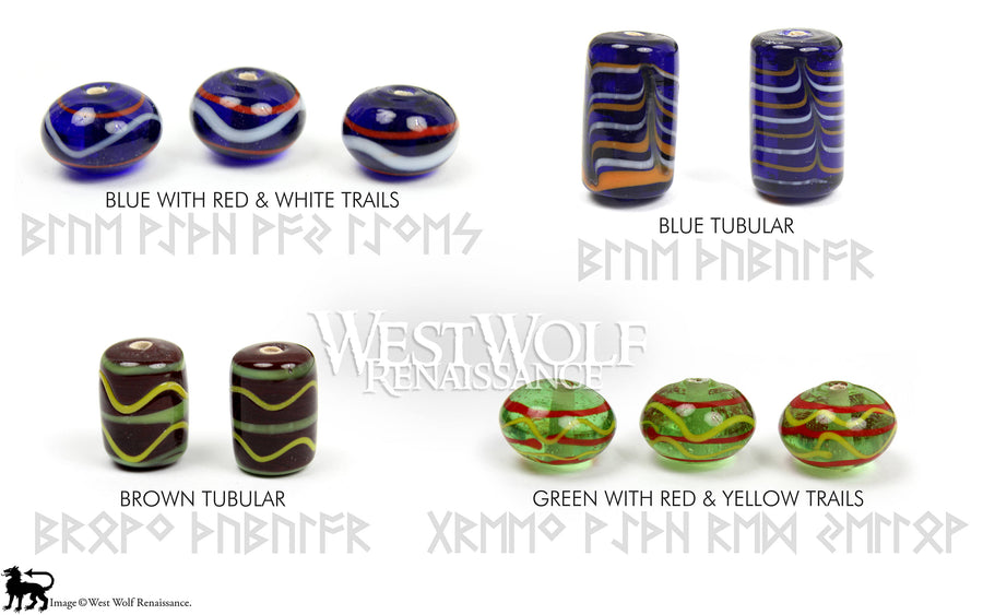 Glass Viking Beads for Jewelry