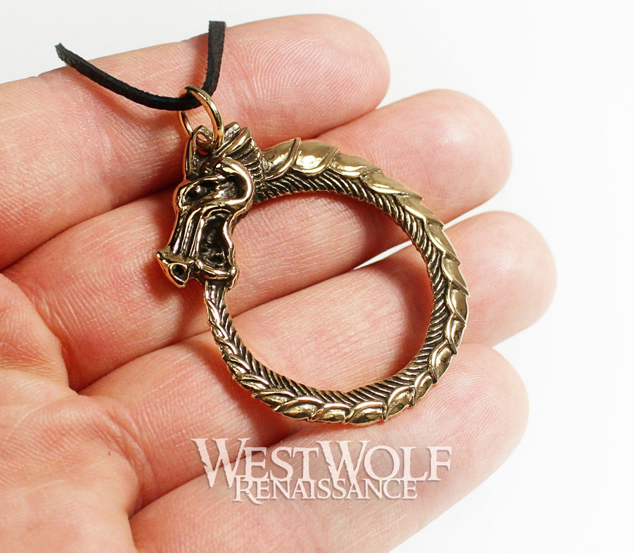 Viking Ouroboros Sea-Serpent Pendant