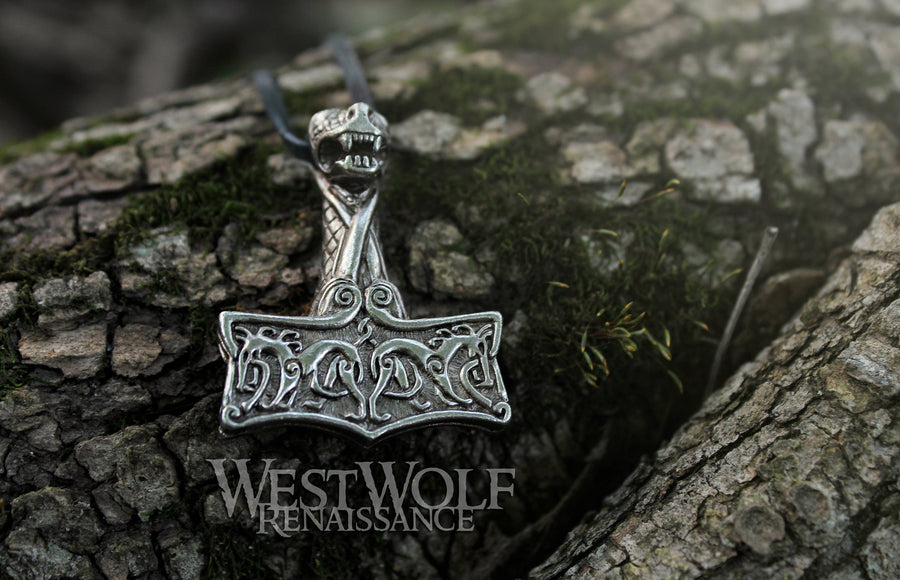 Viking Protection Hammer Pendant - Ground, Sea, & Sky Mjolnir