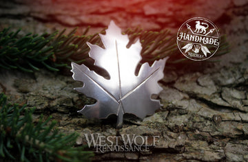 Maple Leaf Brooch or Pin - Made of White Bronze