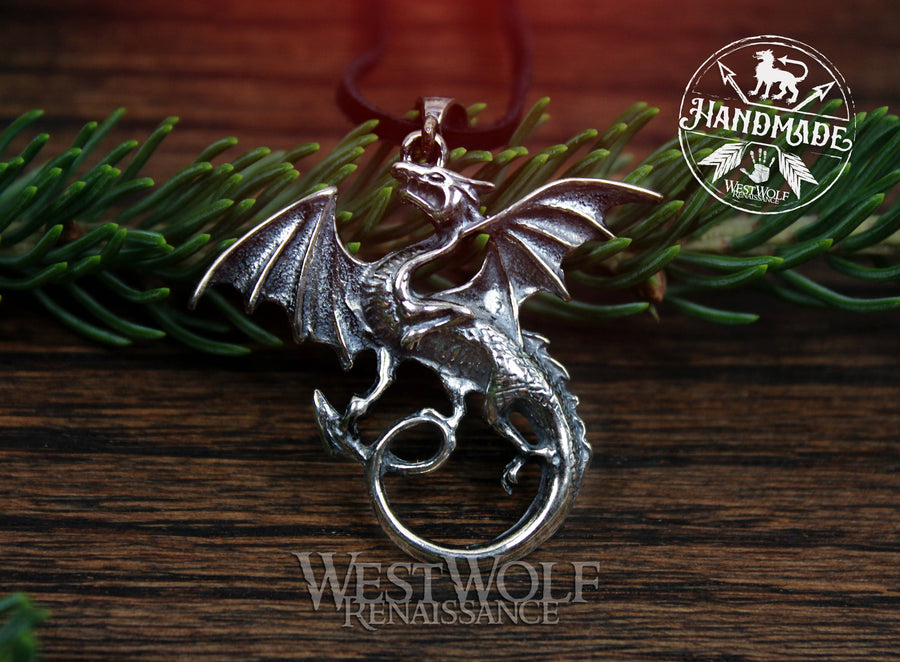 Dragon Pendant Made of Sterling Silver
