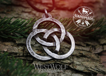 Hand-Forged Celtic Triquetra Circles Pendant - Forces of Nature