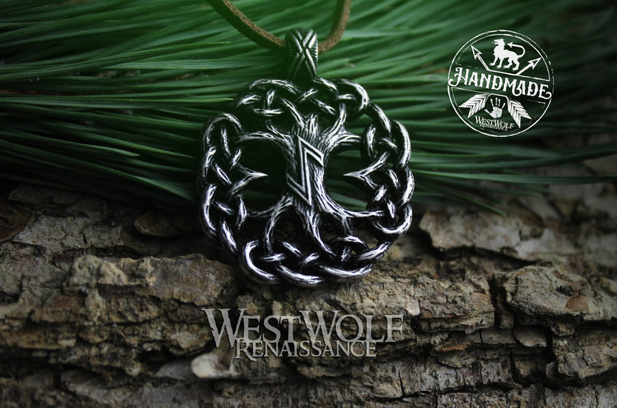 Knotted Tree of Life Pendant - Yggdrasil the World Tree