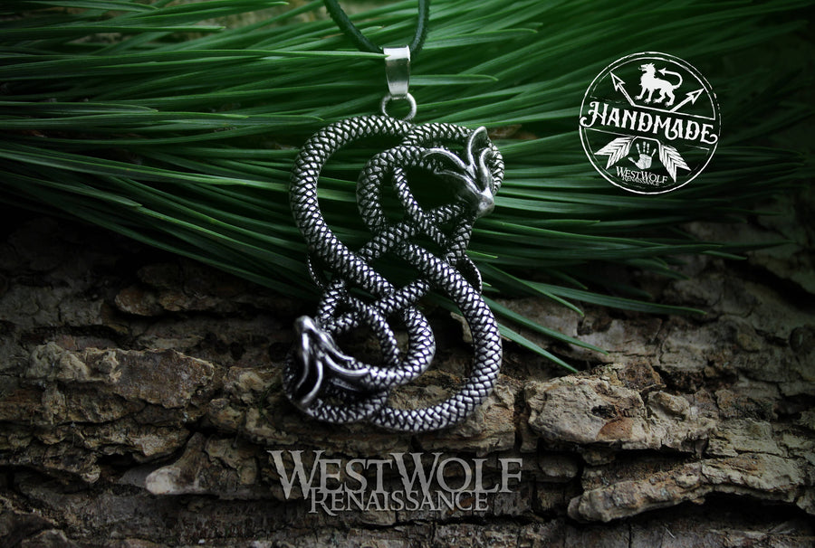 Viking Midgard Dragon Knot Pendant of Loki