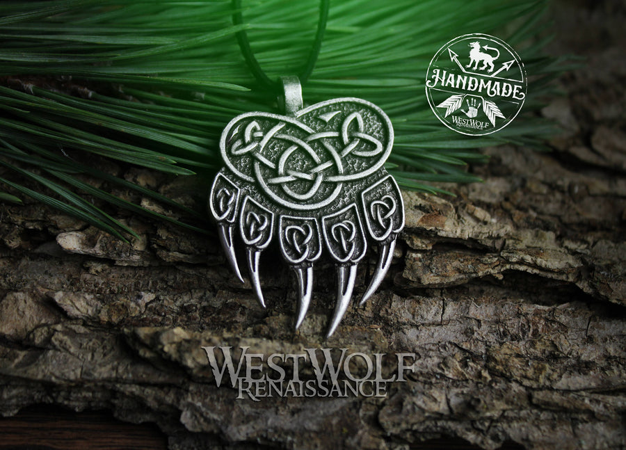 Knotted Bear Paw Pendant